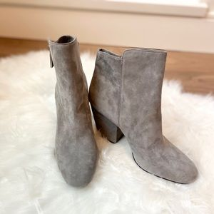 Vegan Suede Ankle Grey Booties